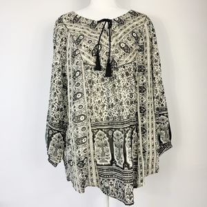 Lucky Brand Peasant Boho Tunic Size 1x